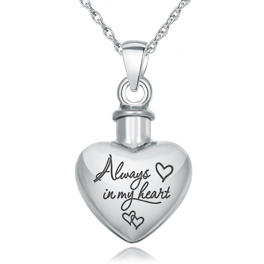always in my ashes necklace personalised 925