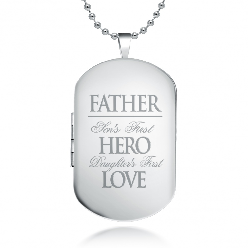 Dog Tag Picture Locket
