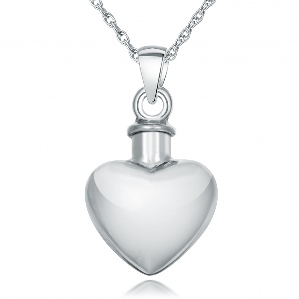 Ashes Urn Memorial Locket Necklace Pendant 925 Sterling